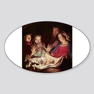 Nativity by Gerard van Honthorst Sticker