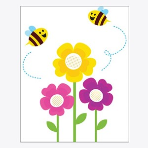 Bees with Flowers Posters