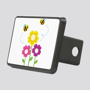 Bees with Flowers Hitch Cover