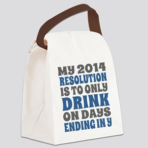 My 2014 New Years Resolution Canvas Lunch Bag