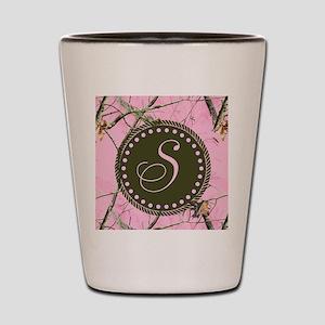 Pink woodland camo Custom Shot Glass
