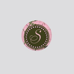 Pink woodland camo Custom Mini Button