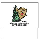The Pooping Bear Yard Sign