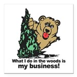 The Pooping Bear Square Car Magnet 3