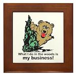 The Pooping Bear Framed Tile