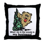 The Pooping Bear Throw Pillow