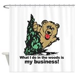 The Pooping Bear Shower Curtain