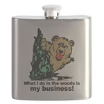 The Pooping Bear Flask