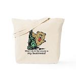 The Pooping Bear Tote Bag