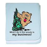 The Pooping Bear baby blanket
