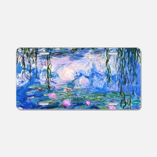 Monet's Water Lilies Aluminum License Plate