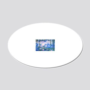 Monet's Water Lilies 20x12 Oval Wall Decal