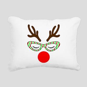 Hipster Reindoe Rectangular Canvas Pillow