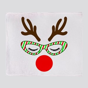 Hipster Reindoe Throw Blanket