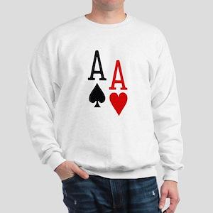 Pocket Aces Poker Sweatshirt