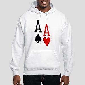 Pocket Aces Poker Hooded Sweatshirt