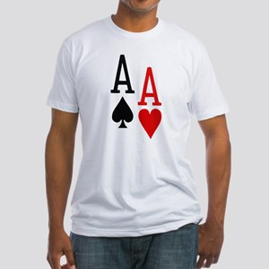 Pocket Aces Poker Fitted T-Shirt