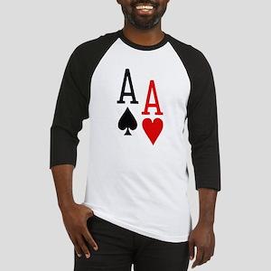 Pocket Aces Poker Baseball Jersey