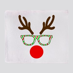 Hipster Reindeer Throw Blanket