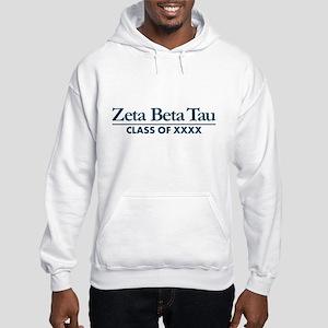 Zeta Beta Tau Fraternity Letters Hooded Sweatshirt