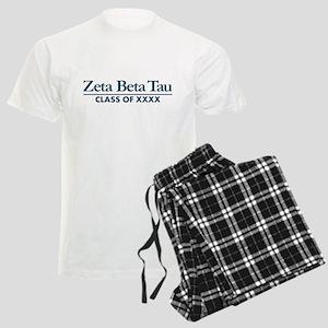 Zeta Beta Tau Fraternity Lett Men's Light Pajamas