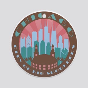Chicago round chocolate Ornament (Round)