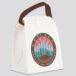 Chicago round chocolate Canvas Lunch Bag