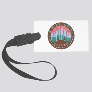 Chicago round chocolate Luggage Tag