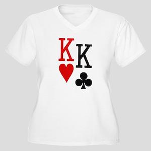 Pocket Kings Poker Women's Plus Size V-Neck T-Shir