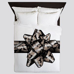 Dachshund Bow Queen Duvet