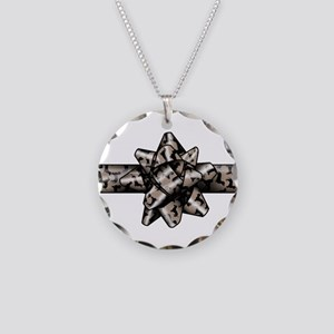 Dachshund Bow Necklace Circle Charm