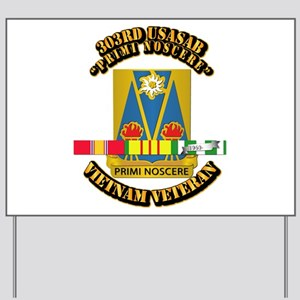 Army - 303rd USASA Bn w SVC Ribbon Yard Sign