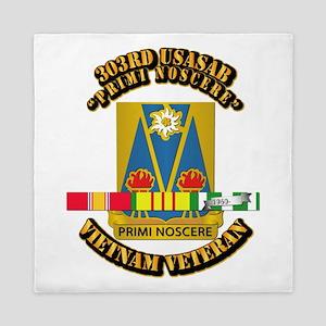 Army - 303rd USASA Bn w SVC Ribbon Queen Duvet