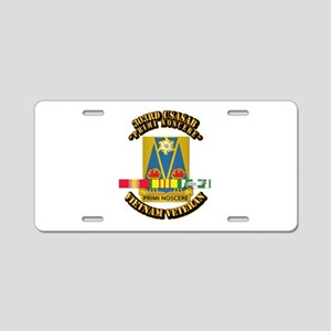 Army - 303rd USASA Bn w SVC Ribbon Aluminum Licens