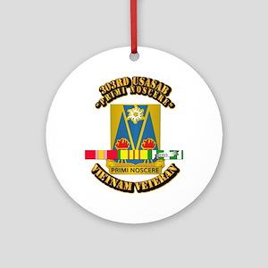 Army - 303rd USASA Bn w SVC Ribbon Ornament (Round