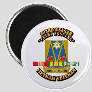 Army - 303rd USASA Bn w SVC Ribbon Magnet
