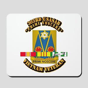 Army - 303rd USASA Bn w SVC Ribbon Mousepad