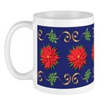 Poinsettias And Bows Mugs