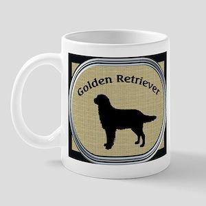 Golden on beige n black Mug