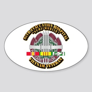 Army - 95th Evac Hospital w SVC Ribbon Sticker (Ov