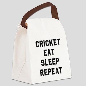 Cricket Eat Sleep Repeat Canvas Lunch Bag