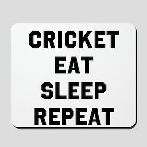 Cricket Eat Sleep Repeat Mousepad