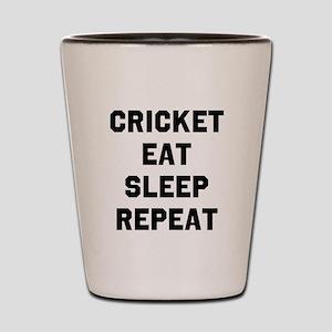 Cricket Eat Sleep Repeat Shot Glass