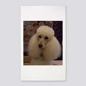 White Standard Poodle 3'x5' Area Rug