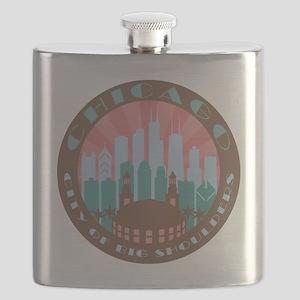 Chicago round chocolate Flask