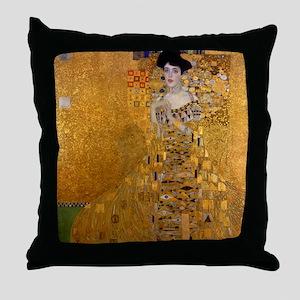 Portrait of Adele Bloch Bauer I Throw Pillow