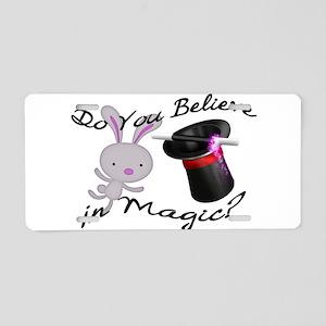 Do You Believe In Magic Top Hat & Rabbit Aluminum