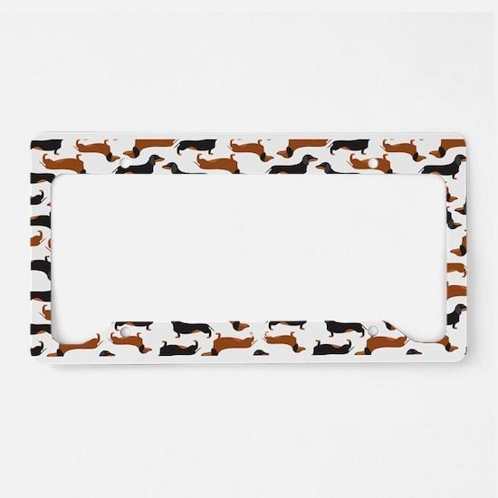 dachshund white license plate holder - Dog License Plate Frames