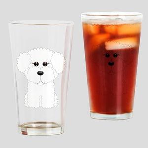 Bichon Frise Art Drinking Glass