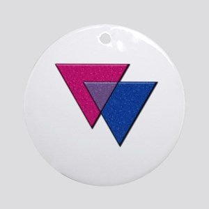 Triangles Symbol - Bisexual Pride Flag Ornament (R